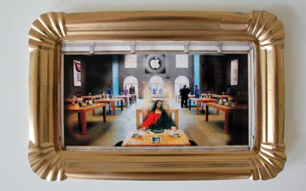 Jesus Abendmal im Apple Store