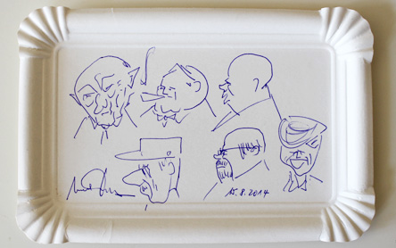 Karikaturen Politiker der 50er - 70er