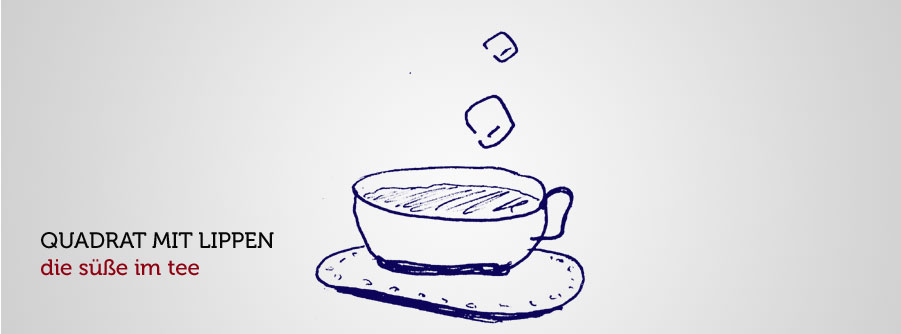 Zuckerwürfel im Tee