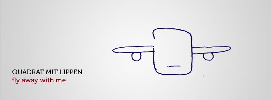 Quadrat als Flugzeug