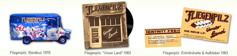 Tourbus und Platte der berliner Band Fliegenpilz