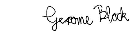 Gerome Block Unterschrift