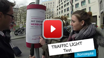 Traffic Light Werbesystem Test